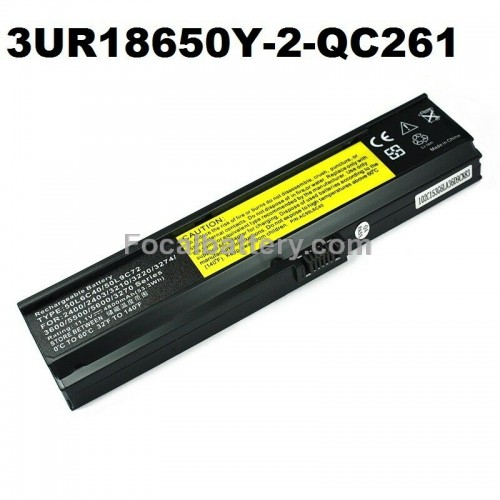 Battery 3UR18650Y-2-QC261 for Laptop Acer Aspire 5050 5500 5580 5570 5600 3600 3680 Notebook Li-ion 11.1V 4400mAh